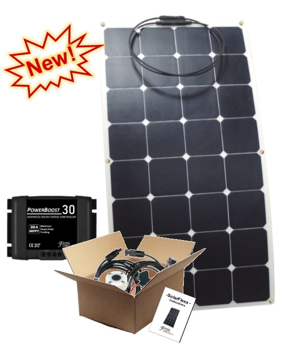 SolarFlexx solar packages include everything you need for a do it yourself installation.